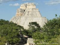 MEXICO - Yucatan - Uxmal - La Piramide del Adivino (Pyramid of the Magician) 7