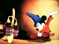 Walt Disney's FANTASIA - MICKEY MOUSE as THE SORCERER'S APPRENTICE)