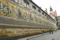 Procession of Princes Monument. Meissen Porcelian Tile, Dresden.