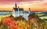 Neuschwanstein Castle in mid Autumn