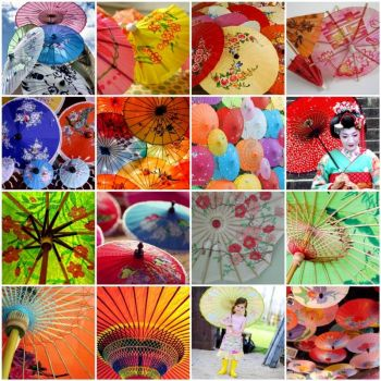 Paper umbrellas, by merwing little dear on flickr