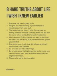 8 hard truths about life