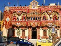 De Paule band club decorated for feast day Pawla Malta