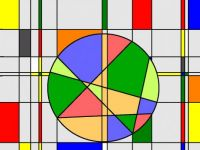 Wheel in Mondrian