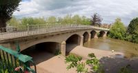 Tenbury Wells 26-05-2021 Teme Bridge horizontal panorama 01