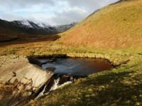 Snow covering on Fairfield, Lake District
