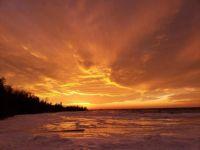 Sunset over Lake Michigan taken at twilight