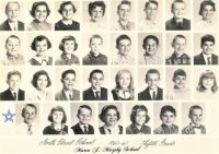 THEME:  B&W - Vintage Photos  ~~  1960 - 1961,  My brother's 5th grade class