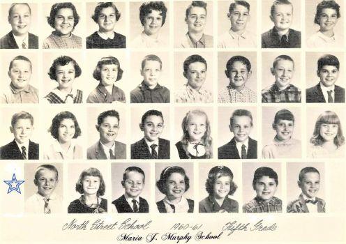 THEME:  B&W - Vintage Photos  ~~  1960 - 1961,  My brother's 5th grade class