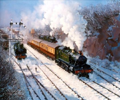 Severn Valley railway in winter