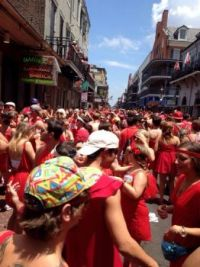 Red Dress Day in New Orleans