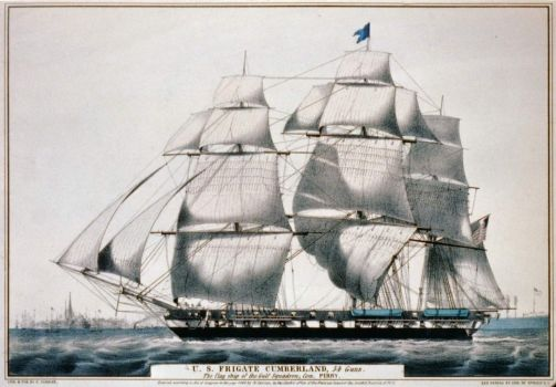 USS Cumberland - launched 1842; lost 1862