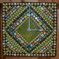 Mosaic Clock THEME: CLOCKS & TIME PIECES