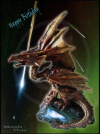 Birthday E-Card Dragon (Ex. Small)