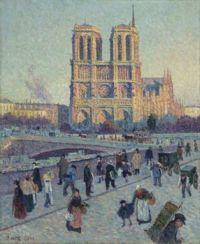 The Quai Saint Michel and Notre Dame - Maximilien Luce ( large )