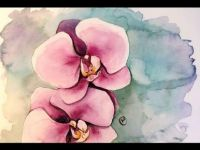 Water Colour Orchids