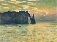 Monet's Etretat at Sunset
