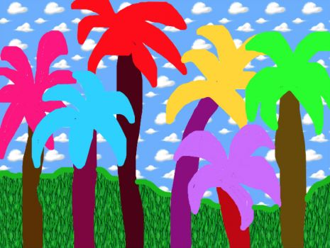 Colourful Palms