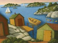 Sheds Along the Sea by Paul Hannon