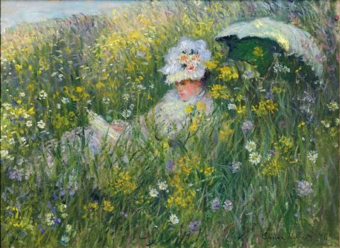 Claude Monet - Camille Monet in the Meadow, 1876) (May17P12)