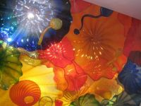 Chihuly ceiling sculpture made of glass at Royal Ontario Museum