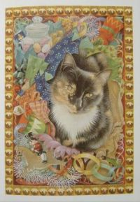 Art - Book - Lesley Anne Ivory Christmas Cats - Motley & the Christmas Puddings