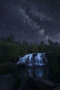 Under Milky Way in Paulding, MI. at Bond Falls