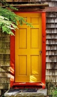 Golden Colored Door