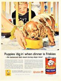 Themes Vintage ads - friskies Canned Dog Food 1957