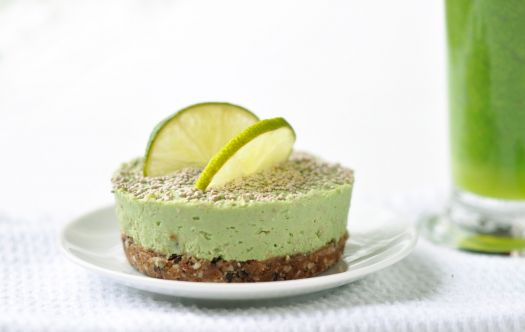 'Green Smoothie' Peppermint Cheesecake