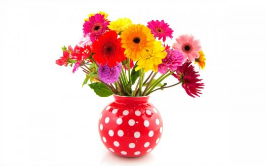 Colorful Vase of Flowers