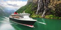 Queen Mary 2 in Milford Sound, NZ