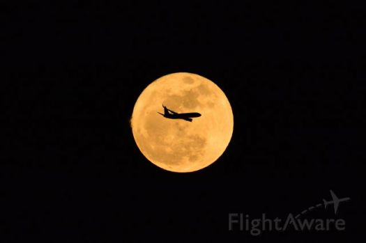airplane moon