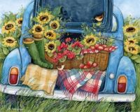 Sunflowers and Apples (X-Large)