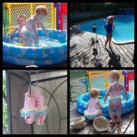 Swimming at Nana's house