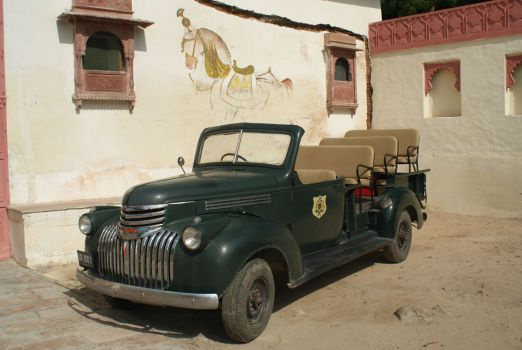 Vintage US Army truck at Jojawar, India