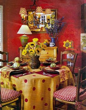 Red-walled Dining Room