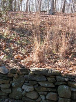 wall holding slope of hill,  N. Carolina, 12/30/12