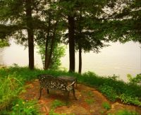 Quiet little spot by a lake.