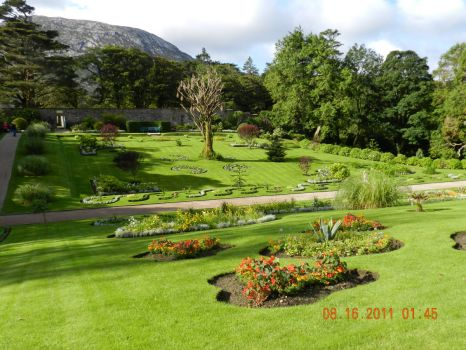 Ireland  Garden at Kylemore abby