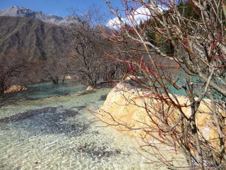 Lake in Jiuzhaigou Valley, Sichuan, China