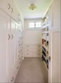 Big, bright closet