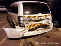 Crew van rear ended