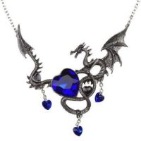 Sapphire and Dragon Necklace