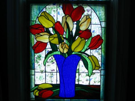 our stain glass in our old home