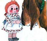 Famous Art Little Golden Book Art Raggedy Ann and the Cookie Snatcher