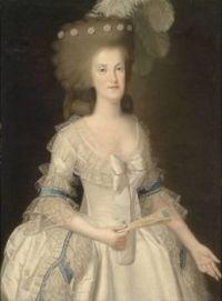Anonymous Porträt Königin Maria Carolina von Neapel (1752-1814) circa 1800