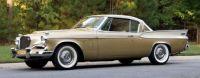 1957 Studebaker Golden Hawk gold and white front quarter 2