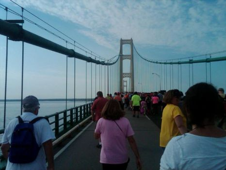 Mackinac Bridge walk, Labor Day, 2012