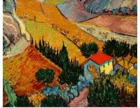 Vincent van Gogh-Landscape With House and Ploughman